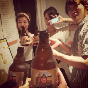 地ビールで乾杯!!