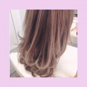 ハイライト☆ラベンダーベージュ(^^)夏Hair