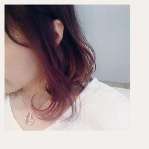 インナーカラー×モーブピンク