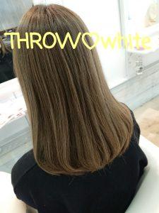 *THROWの新色ホワイトで透明感カラー*