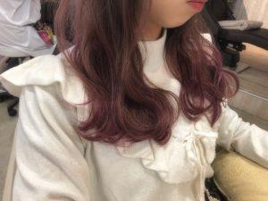 ◆ホワイトピンク*グラデーションカラー◆