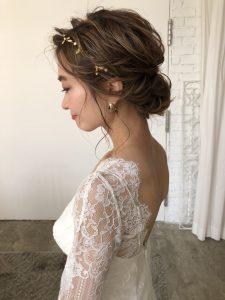 結婚式のヘアアレンジしてもらいました!