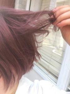 ブリーチ毛の褪色について