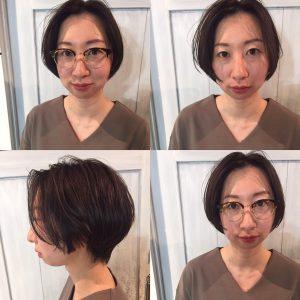 ショートヘア眼鏡とも相性◎