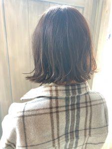 抜け感切りっぱなしボブ(^^)/