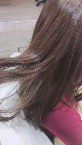 バージン毛からイルミナカラーで透け感ベージュに☆
