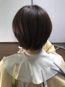 母の髪を切ってきました☆