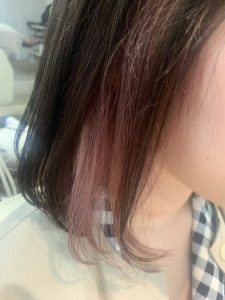 ♪インナーカラー×パールPINK♪