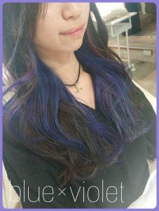 *インナーカラー★blue×violet*