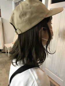 帽子をかぶっても可愛く♪スタイリング♪